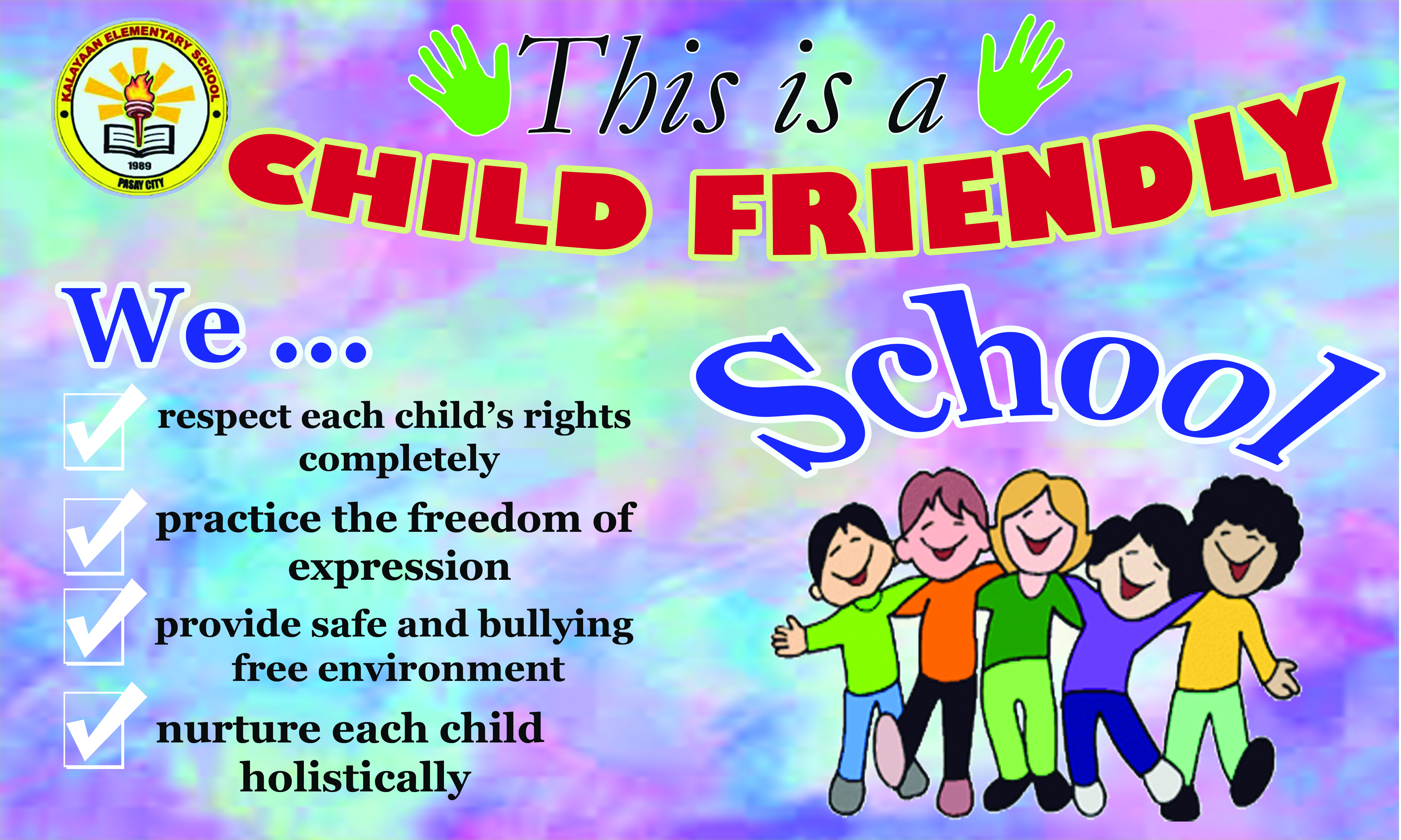 child friendly school policies Annex 2-a child friendly school survey  • your school has a policy against discrimination with regard to gender, cultural origin, social status, religious belief, and others  so, is your school child-friendly if you got a total of at least 25 points but lower than 30 points, you are a child-friendly school if you got at least 30.